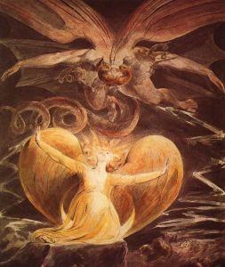 El Dragón Rojo y la Mujer vestida de Sol, William Blake (1805/1810)