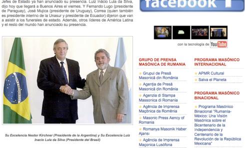 """Las """"excelencias"""" Kirchner y DaSilva posan para la foto, en el sitio de la APMR. Whiskyyyy!!!"""