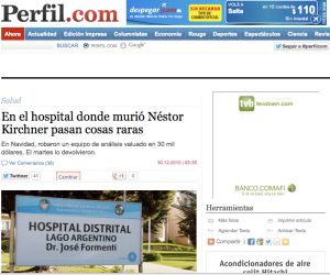 El robo más delirante de la historia del No-crimen, en el Hospital de El Calafate