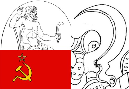 La hoz, símbolo de Cronos-Saturno en la bandera de la URSS y en la psicografía parraviciana...